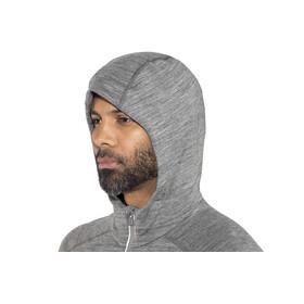 Icebreaker Quantum LS Zip Hood Men gritstone hthr